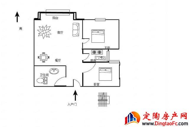 金正大新天广场  2室1厅 89.7平米 毛坯 50万元