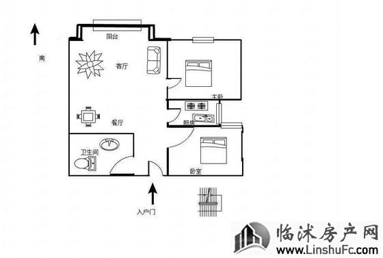 金正大新天广场 2室2厅 87平米 毛坯 50万元